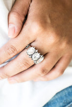 Load image into Gallery viewer, Straighten Your Crown - White Paparazzi Ring - SavvyChicksJewelry