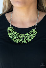 Load image into Gallery viewer, Powerful Prowl - Green Necklace - SavvyChicksJewelry