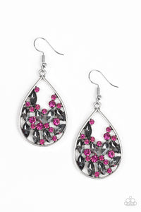 Cash or Crystal - Pink Earrings - SavvyChicksJewelry