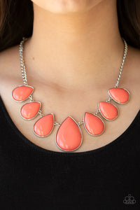 Drop Zone - Orange Necklace - SavvyChicksJewelry