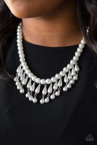 Miss Majestic - White Necklace - SavvyChicksJewelry