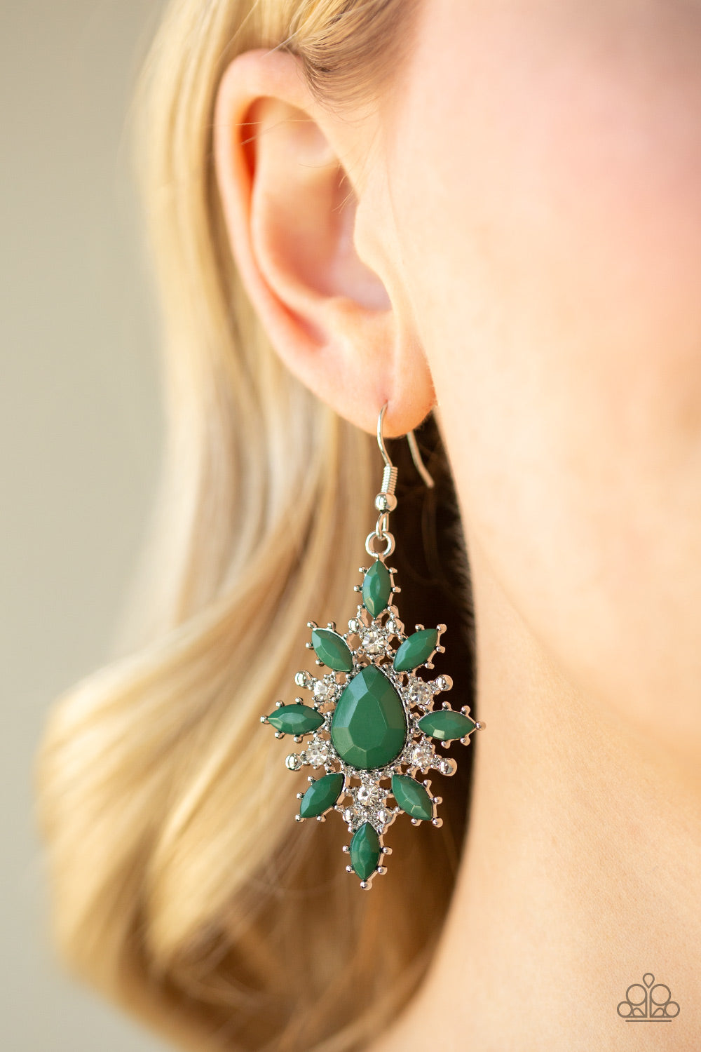 Glamourously Colorful - Green Earrings - SavvyChicksJewelry