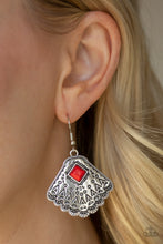 Load image into Gallery viewer, Mountain Mesa - Red Earrings - SavvyChicksJewelry