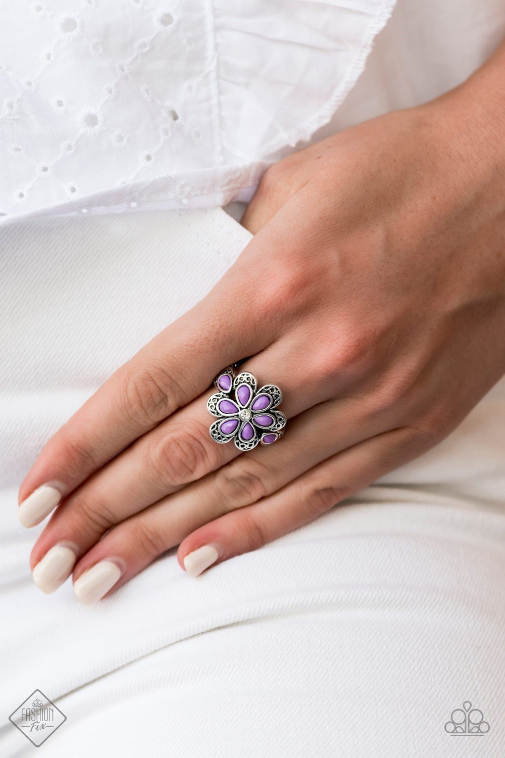 Fruity Florals - Purple Ring - SavvyChicksJewelry