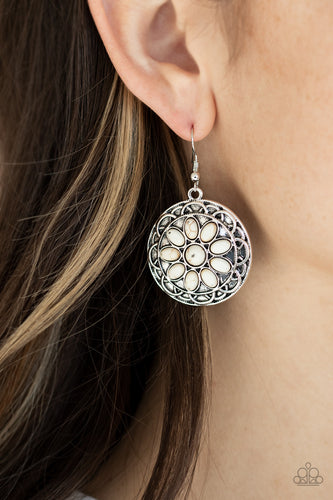 Mesa Oasis - White Earrings - SavvyChicksJewelry