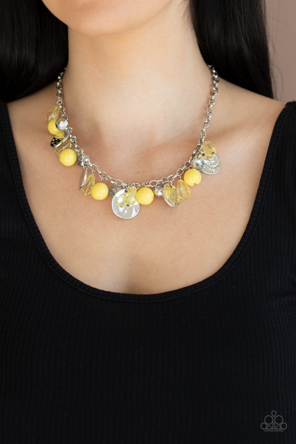 Prismatic Sheen - Yellow Necklace - SavvyChicksJewelry