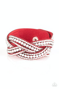 Bring on the Bling - Red Bracelet - SavvyChicksJewelry