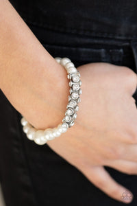 Traffic-Stopping Sparkle - White Bracelet - SavvyChicksJewelry