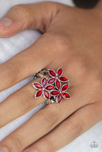 Load image into Gallery viewer, Gardenia Grandeur - Red Ring - SavvyChicksJewelry