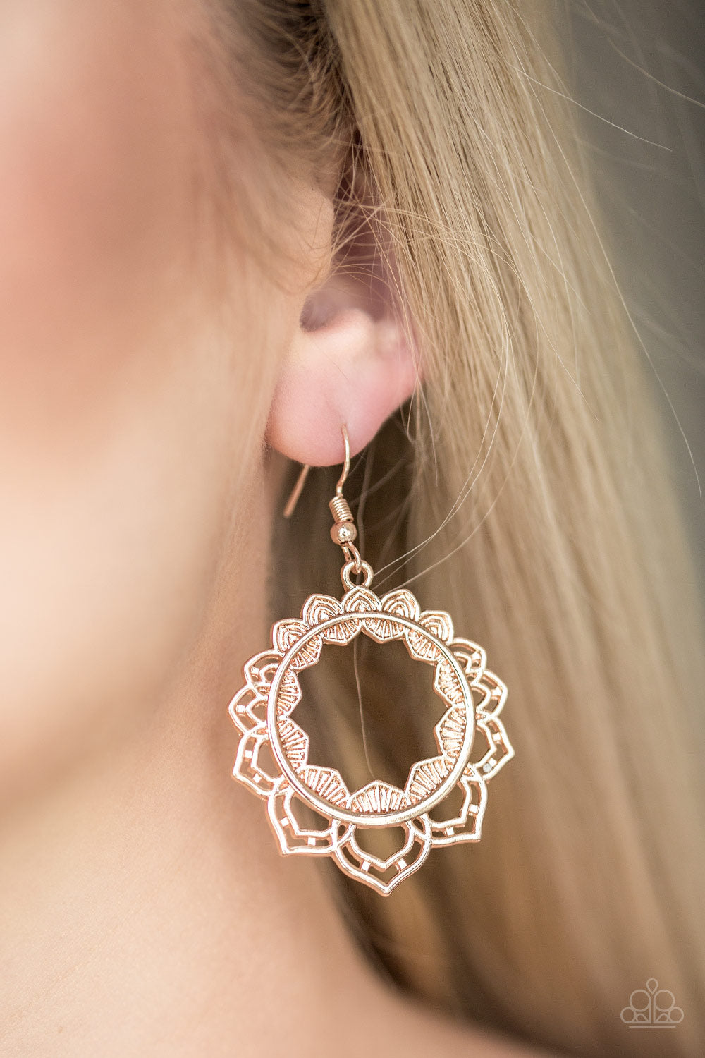 Modest Mandalas - Rose Gold Earrings - SavvyChicksJewelry