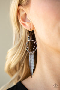 Eye-Catching Edge - Black Earrings - SavvyChicksJewelry