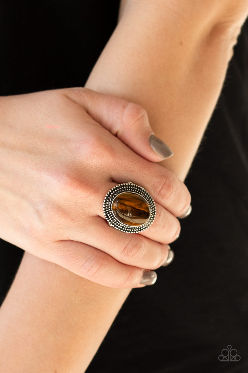 Outdoor Oasis - Brown Ring - SavvyChicksJewelry