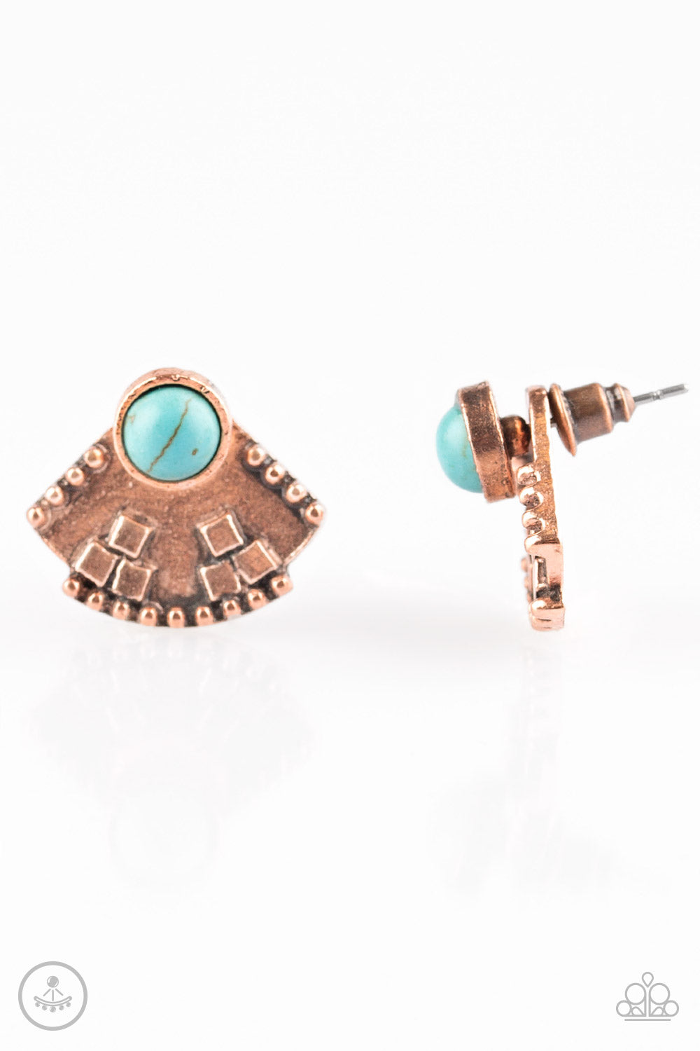 Paparazzi Stylishly Santa Fe - Copper Post Earrings - SavvyChicksJewelry