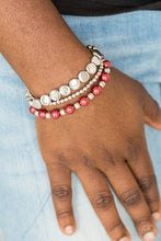 Load image into Gallery viewer, Girly Girl Glamour - Red Bracelet - SavvyChicksJewelry