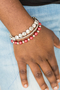 Girly Girl Glamour - Red Bracelet - SavvyChicksJewelry