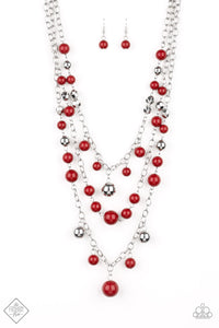 The Partygoer - Red Necklace - SavvyChicksJewelry