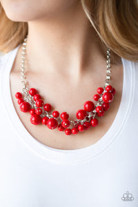 Walk this BROADway - Red Necklace - SavvyChicksJewelry