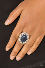 Load image into Gallery viewer, Moonlight Marigold - Blue Paparazzi Ring - SavvyChicksJewelry