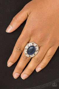 Moonlight Marigold - Blue Paparazzi Ring - SavvyChicksJewelry