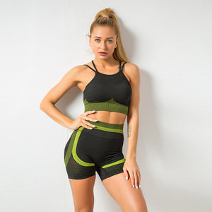 Kei's Summer Women Seamless Bra and Shorts Gym set