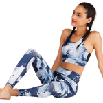 Load image into Gallery viewer, Kei's Custom Print Yoga Running Bra and Leggings Set