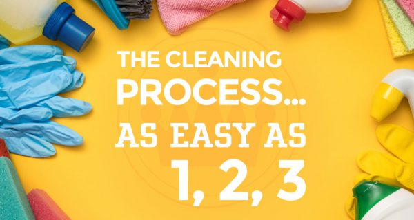 The Cleaning Process… As Easy as 1, 2, 3