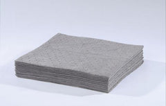 "25000 15"" x 18"" HEAVY-WEIGHT UNIVERSAL ABSORBENT PAD - Gray, 100/bag"