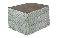 "DURASOAK 15"" x 19"" MEDIUM-DUTY UNIVERSAL ABSORBENT PAD - Gray, 100/case"