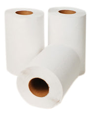 "P-H030A1 SELECT 8"" WHITE ROLL TOWELS - 350', 12 rolls/case"