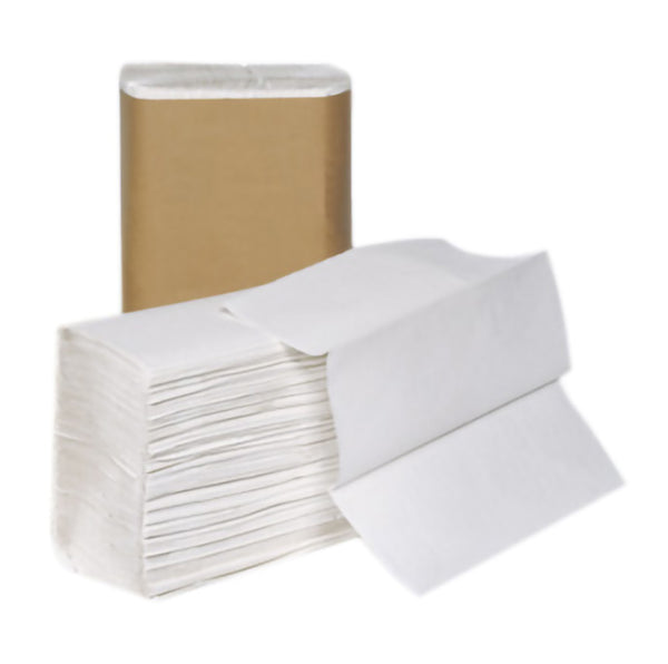 P-H120A1 SELECT MULTI-FOLD WHITE TOWELS - 250/pkg, 16pkg/case - P1436
