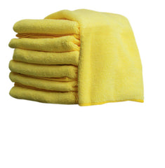 "16"" x 16"" YELLOW MICROFIBRE TOWEL - (10/pkg, 20pkg/case)"