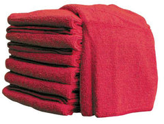 "16"" x 16"" RED MICROFIBRE TOWEL (10/pkg, 20pkg/case)"