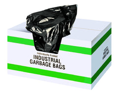 SS 35503-6 35 x 50 X-STRONG BLACK GARBAGE BAGS - 100/case