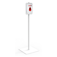 CHECKERS TOUCH-FREE SANITIZER DISPENSER & METAL STAND SYSTEM