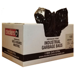 35503-6 35 x 50 X-STRONG BLACK GARBAGE BAGS - 100/case