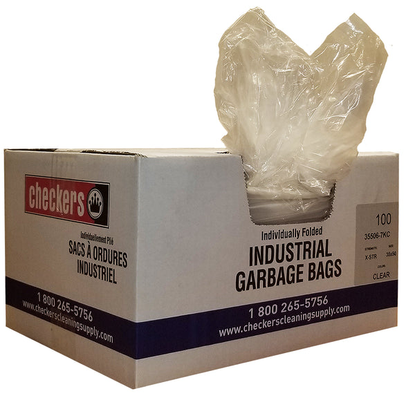 CHECKERS INDUSTRIAL GARBAGE BAGS CLEAR
