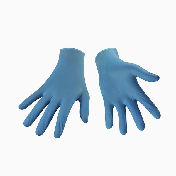 WIPECO 5mil PF BLUE NITRILE GLOVES, MEDIUM - 100/box (10boxes/case)