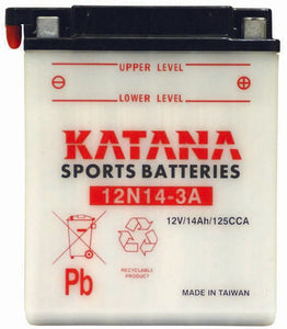 12N14-3A Katana Motorcycle Battery 125CCA 14AH