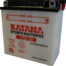 Load image into Gallery viewer, 12N9-3B Katana Motorcycle Battery 85CCA 9AH