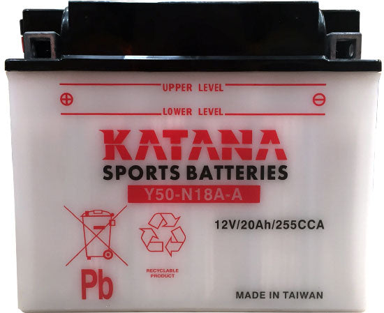 Y50-N18A-A Katana Motorcycle Battery 240CCA 20AH