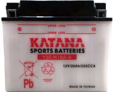 Load image into Gallery viewer, Y50-N18A-A Katana Motorcycle Battery 240CCA 20AH