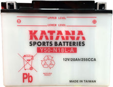 Load image into Gallery viewer, Y50-N18L-A Katana Motorcycle Battery 240CCA 20AH