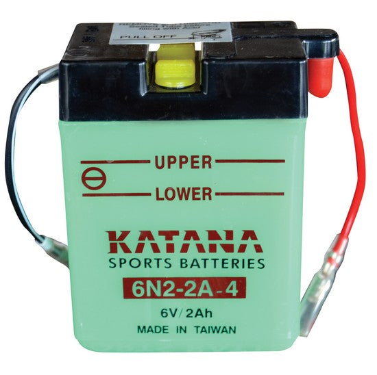 6N2-2A-4 Katana Motorcycle Battery 16CCA 2AH