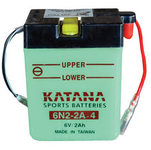 Load image into Gallery viewer, 6N2-2A-4 Katana Motorcycle Battery 16CCA 2AH