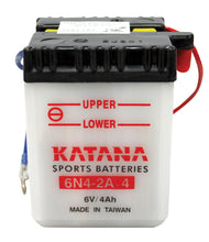 Load image into Gallery viewer, 6N4-2A-4 Katana Motorcycle Battery 24CCA 4AH