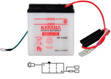 Load image into Gallery viewer, 6N5.5-1D Katana Motorcycle Battery 5.5AH