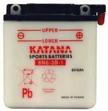 Load image into Gallery viewer, 6N6-3B-1 Katana Motorcycle Battery 48CCA 6AH