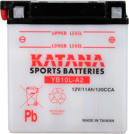YB10L-A2 Katana Motorcycle Battery 160CCA 11AH