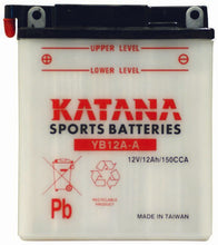 Load image into Gallery viewer, YB12A-A Katana Motorcycle Battery 150CCA 12AH