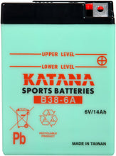Load image into Gallery viewer, B38-6A Katana Motorcycle Battery 104CCA 14AH